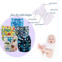 pattern pul lovely baby cloth diaper,eco-friendly,reusable,washable cloth nappy Without Insert (5pcs Cover)