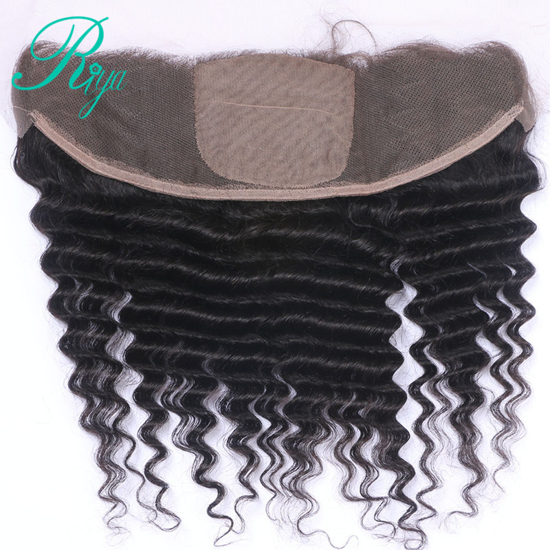 deep curly 13x4 silk base frontal closure