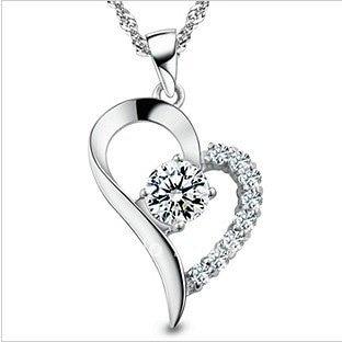 Fashionable font b Pregnant b font Woman 925 Sterling Silver Necklace Pendants Good Quality Heart Shape