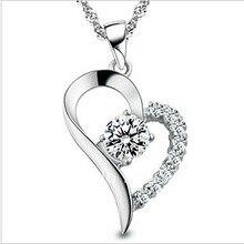 Mujer Embarazada de moda 925 Colgantes Del Collar de Plata de la Buena Calidad en Forma de Corazón de Plata Joyería de Plata 925 Colgante