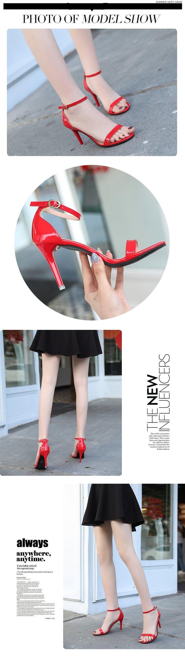 HTB1zYttKPDpK1RjSZFrq6y78VXa9 ORATEE Fashion Ankle Strap Women Casual Sandals Open Toe Summer High Heel Shoes Buckle Ladies Office Work Sandalias Shoes