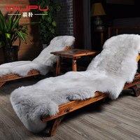 New Luxurious Real Sheepskin Rug 6 Colors Genuine Sheepskin Rug Soft Warm Sofa Seat Pad Double