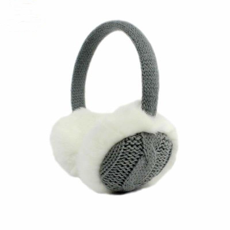 Ear Muffs Winter Warm Knitted Earmuffs Short Plush Fashion Ear Warm Cotton Line Twist Pattern Winter Accessories For Women