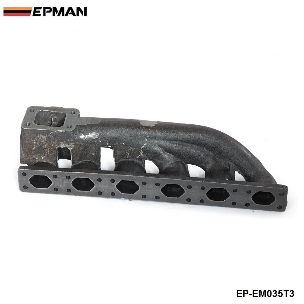 For BMW 323i 325i 328i 330i M3 E36 V6 T3 Iron Cast Exhaust Turbo Manifold 38mm Wastegate Flange EP-EM035T3 for 320i m50tu b20 m50 b25 m50tu b25 top mount t3 t4 turbo manifold for 92 98 fit bmw e36 325i 328i gt35