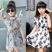 Girls Dresses Summer Off Shoulder kids dresses for girls Frocks Floral bohemian Children Party Dress princess costume Vestidos недорого