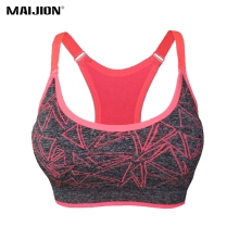 VEAMORS 2017 Absorber Sweat Quick Dry Sports Bra Sträcka Tank Top, Kvinnor Justerbara Rems Polstret Running Yoga Fitness Vest Toppar