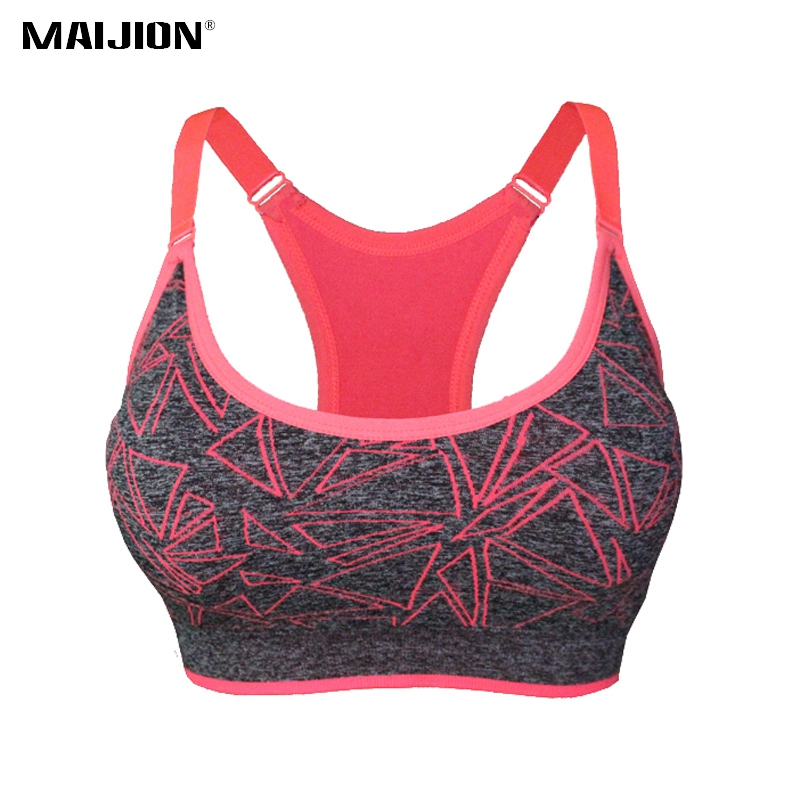 MAIJION 2018 Absorb Sweat Quick Dry Sports Bra Stretch Tank Top, Women Adjustable Straps Padded Running Yoga Fitness Vest Tops