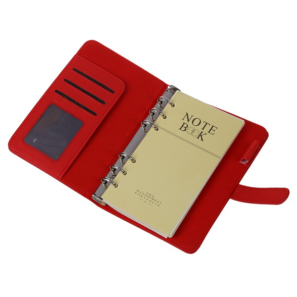 FASHION Pocket Organiser Planner Leather Filofax Diary Notebook Red For Office School