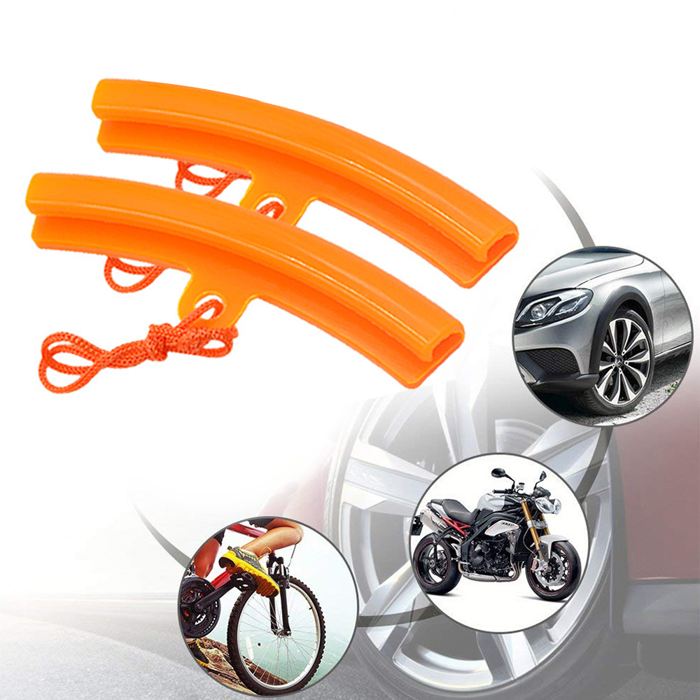 Шт. 2 шт. Универсальный обод колеса протектор Saver шин изменение края защиты Высокое качество Pro пластик Оранжевый для мотоцикла диски инструмент