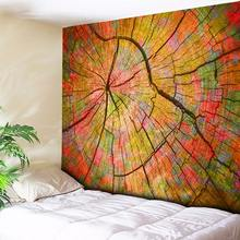 Annual Ring Tree Wood 3D Print Wall Hanging Tapestry Mandala Hippie Boho Bohemian Fabric Orange/Turquoise Green/Brown