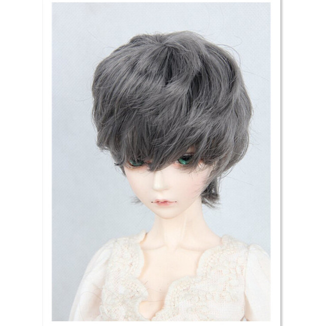 New Style 1/4 BJD Doll Wig Short Hair Accessories for Dolls,High- temperature Wire Doll Hair 4 Colors for Choice