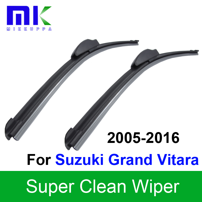 Car Wiper Blades For Suzuki Grand Vitara 2005 2006 2007 2008 2009 2010-2016 Silicone Rubber Windshield Wipers Auto Accessories