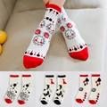 2016 New Korean Literary Casual Pure Cotton Socks Cartoon Women's Socks Free Shipping