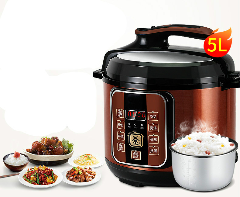 Electric Pressure Cookers Intelligent rice cooker pressure cooker 5-6 electric pressure cooker household. 5L NEWElectric Pressure Cookers Intelligent rice cooker pressure cooker 5-6 electric pressure cooker household. 5L NEW