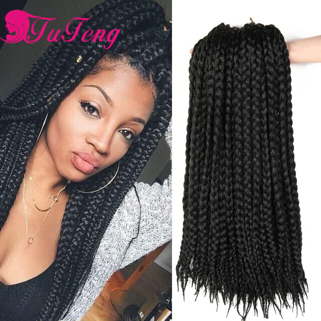 Box Braids Hair Synthetic Extensions Kanekalon Xpression Braiding Crochet Jumbo Hairstyle