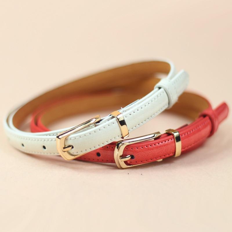 Sale 2018 Fashion Women PU Leather Waist   Belt   buckle Waistband Korean Style Narrow Waistband F