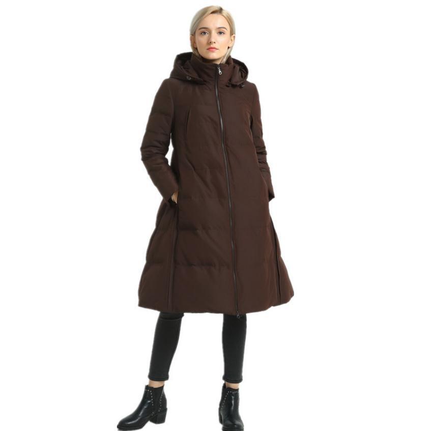Veste 1 Épais Black Plus Chaud Wq332 Mode Le De S Up Canard Bas Haute 90 Vers 5 Marque Sur Col Manteau Duvet Kg Pile Femme coffe 2xl 4qOzxw7T