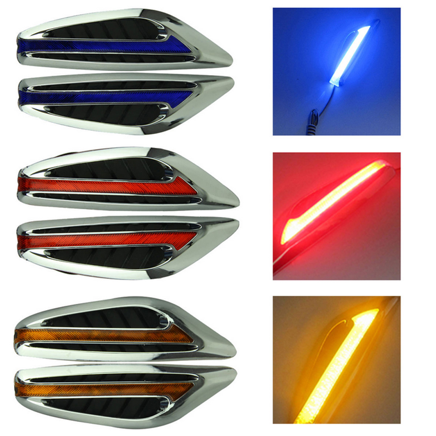 Car Styling Steering auto led light turn signals Fender Side Lamp DC12V Blade Shape Side Lights Marker Turn Signal Light new free shipping 2x led turn signal side light auto parts led side marker car accessories with m logo for bmw e46 02 05 4d 5d