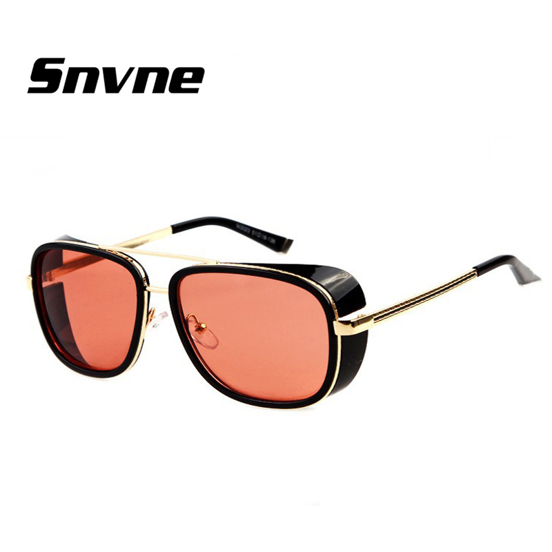 7bbffa4fd38 Detail Feedback Questions about Snvne IRON MAN 3 TONY Gothic Steampunk  Sunglasses Men Mirrored Glasses Vintage steampunk oculos lunette gafas de  sol ...