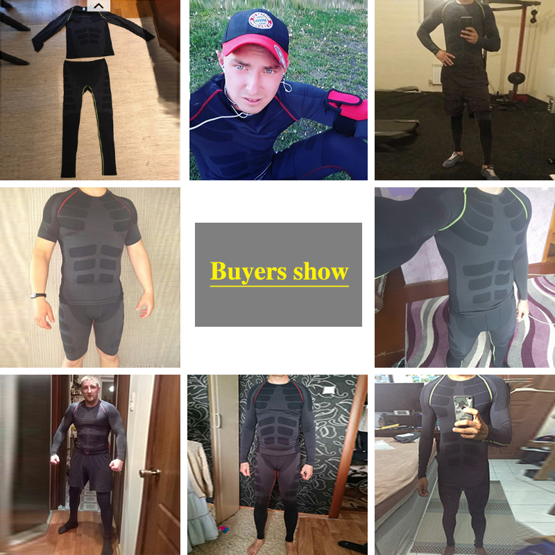 Image 4 - Quick Dry Mens Running Sets 2 pieces/sets Compression Sports Suits Men Basketball Tights Clothes Gym Fitness Jogging Sportswear-in Running Sets from Sports & Entertainment on AliExpress