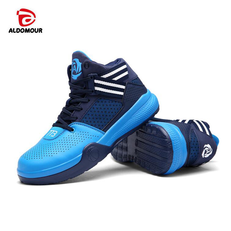 ALDOMOUR Lifestyle basketball shoes lovers newest 2017 basketball sneakers men and women boots lace up basket homme four season pavilion lifestyle