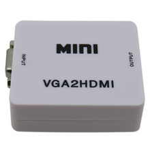1PCS mini VGA to HDMI converter with package font b audio b font for PC laptop