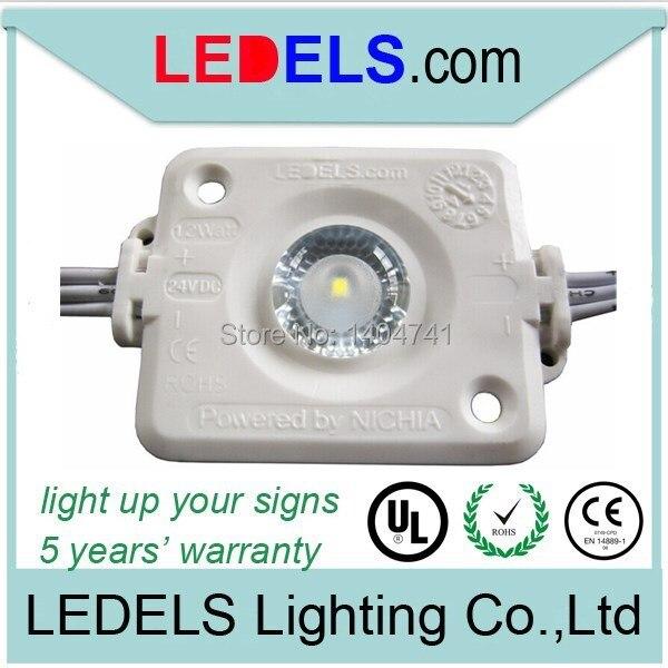 102pcs / Lot UL Approved Led Module signage lighting, 24VDC 1.2W Nichia Led Light for sign backlighting