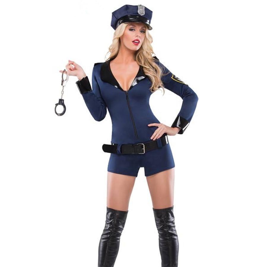 ladies woman navy cop police uniform party fancy dress halloween