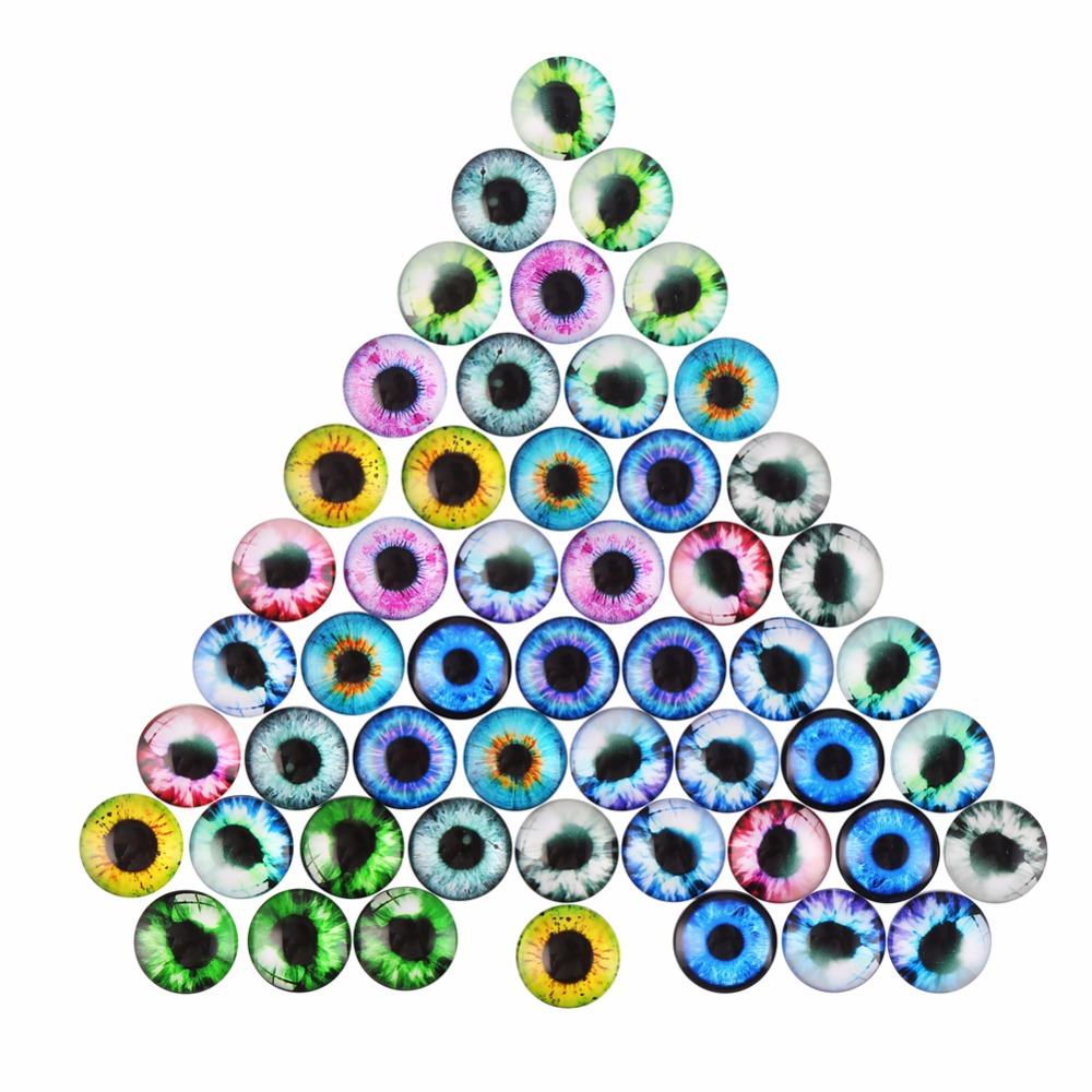48 Pcs/lot 20MM Glass Dolls Eye DIY Bear Cat Craft Eyes for Toy Cartoon Animal Eyes Doll Accessories No Self-adhesive ccinee self adhesive toy eyes 5 6 7 8 10mm total mixed googly eye teddy bear plastic doll eye scrapbook for doll toy accessories