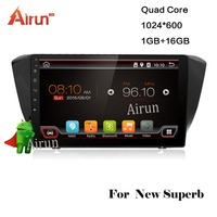 Android 6.0 2 din auto radio for Skoda Superb car DVD GPS player with USB+AM/FM+TV,Bluetooth