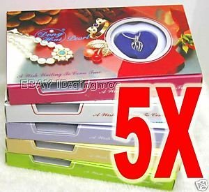 Fashion Gift box Wholesale 5X Heart pendant Wish Pearl Necklace set Gift-who3621 Wholesale/retail Free shipping