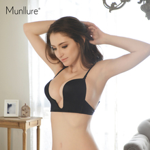 Munllure Sexy Invisible Seamless Women Underwear Lingerie Brassiere Ladies Push Up Bra for Women Intimate Bralettes Full Dress
