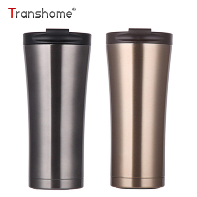 Transhome Thermos Mug 500ml Hot Coffee Double Wall Stainless Steel Water Bottles Travel Relaxing Fashion Tumbler