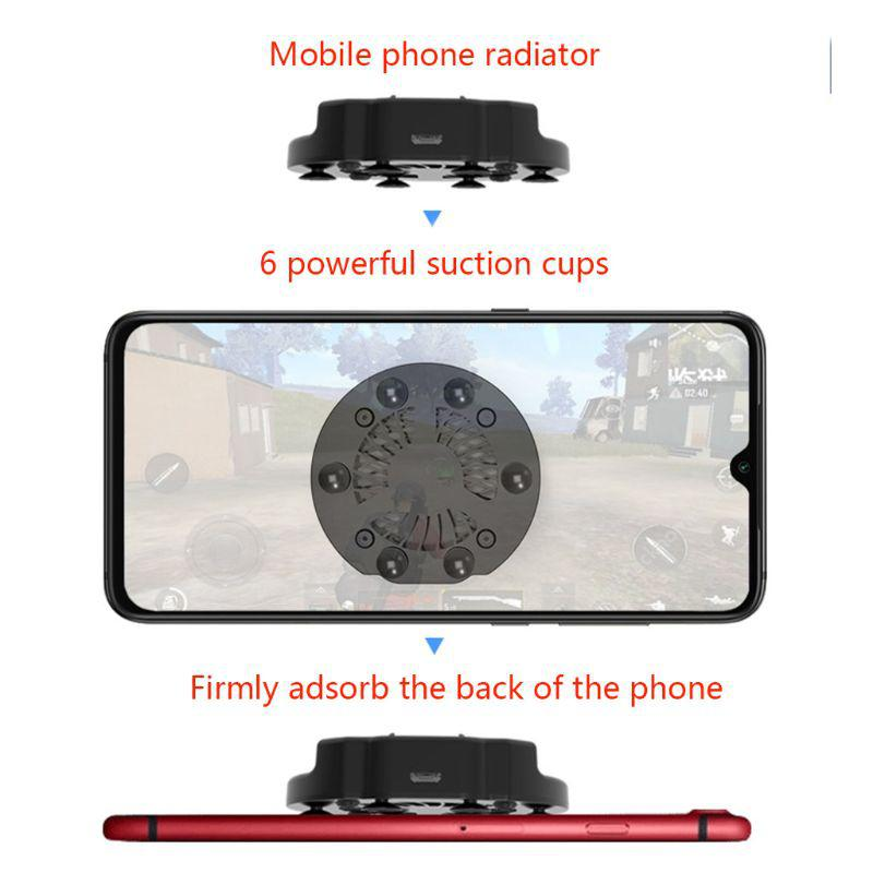 Foldable Fan Radiator Mobile Phone Cooler Cooling Support Holder Bracket for iPhone Samsung Huawei Xiaomi Smartphone Tablet r25