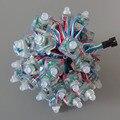 50 шт. DC5V WS2801 WS2811 RGB Полноцветный Квадратных Рассеянный Цифровой СВЕТОДИОДНЫЙ Pixel Модуль Строка IP68 Водонепроницаемый Индивидуально Адресуемых