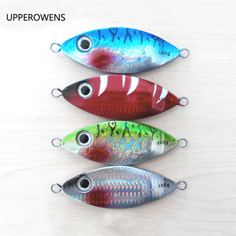 4pcs 160g Lead Fish Lead Jig Knife Jig Mixed Colors Good Quality Fishing Bait Fishing Lures Set Free Shipping