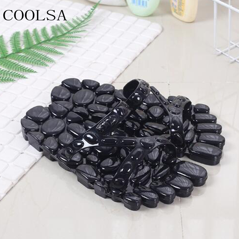 Men's Travel Hotel Home Slippers Personality Outside Flat Massage Slippers Outdoor Beach Flip Flops Men Slides Flat Sandals Hot