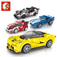 Sembo diamant Nano blocs Voiture Compatible LGSET technique Voiture Ford Mustang briques de construction jouets éducatifs anniversaires cadeaux