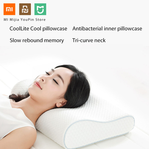 Image 3 - Originele Xiaomi 8H Tri Gebogen Cool Gevoel Trage Rebound Geheugen Katoen Kussens H1 Super Zachte Antibacteriële Hals Ondersteuning kussens