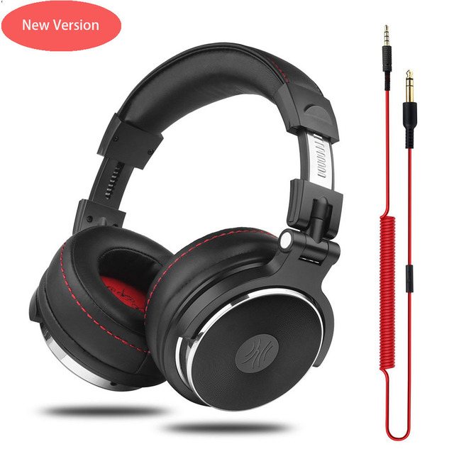 Oneodio Wired Headphones Studio Professional DJ Headphone with Microphone Over Ear Monitor Studio Headphones DJ Stereo Headsets