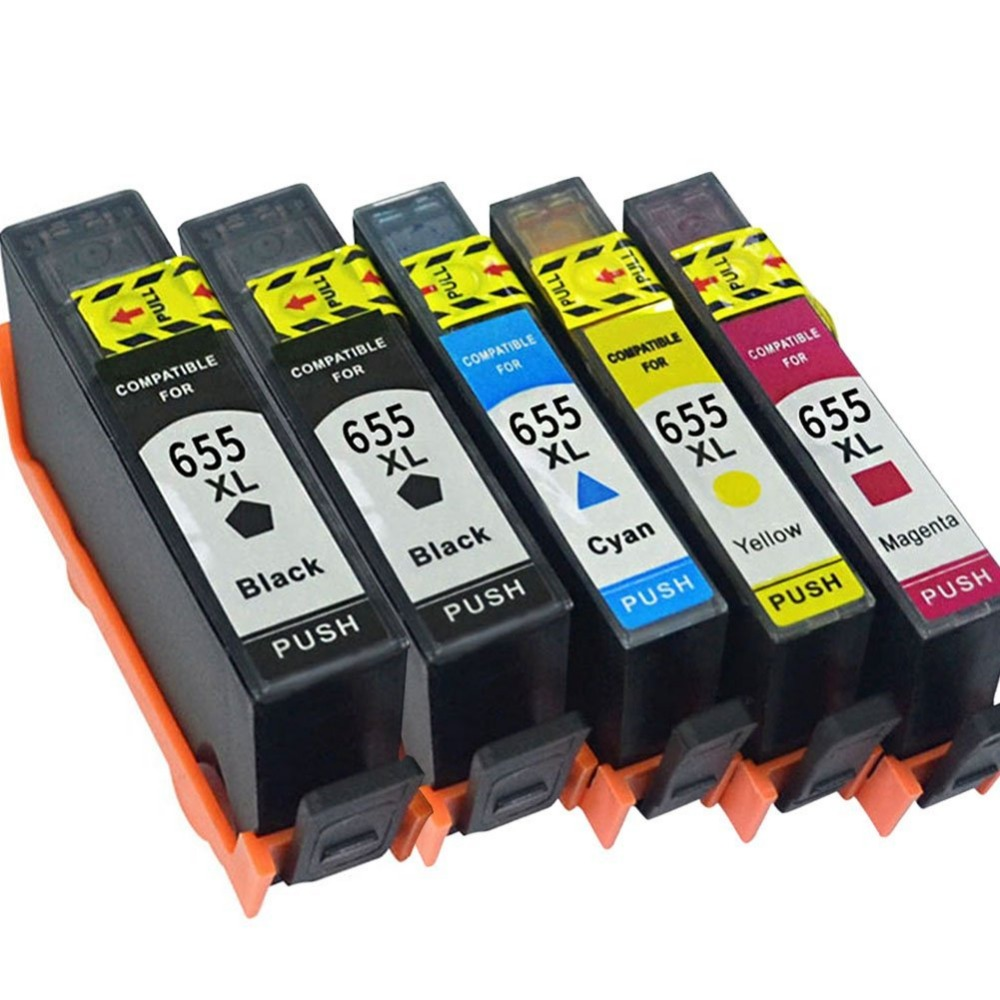 5PK Compatible 655 Ink Cartridge Replacement for HP655 for deskjet 3525 5525 4615 4625 4525 6520 6525 6625 Printer