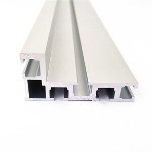 Image 5 - Clôture de profil en Aluminium, 600/800mm, 75mm de hauteur, rails en T et supports coulissants, connecteur de clôture pour menuiserie