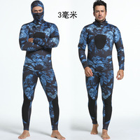 Camouflage Spearfishing Wetsuits Two Pieces Premium Neoprene Diving Snorkeling Swimming Fishing Camouflage Full Wetsuit