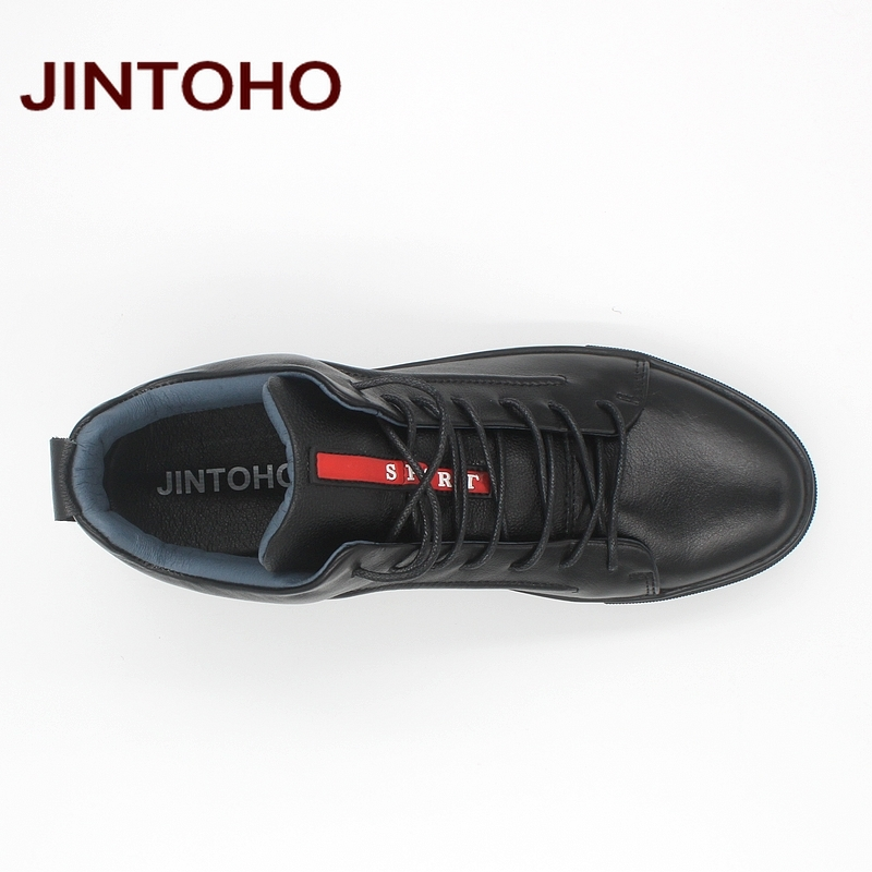 JINTOHO 2018 Casual Leather Boots Genuine Leather Men Shoes Fashion Male Shoes Winter Ankle Boots Male Boots Winter Men Shoes 3