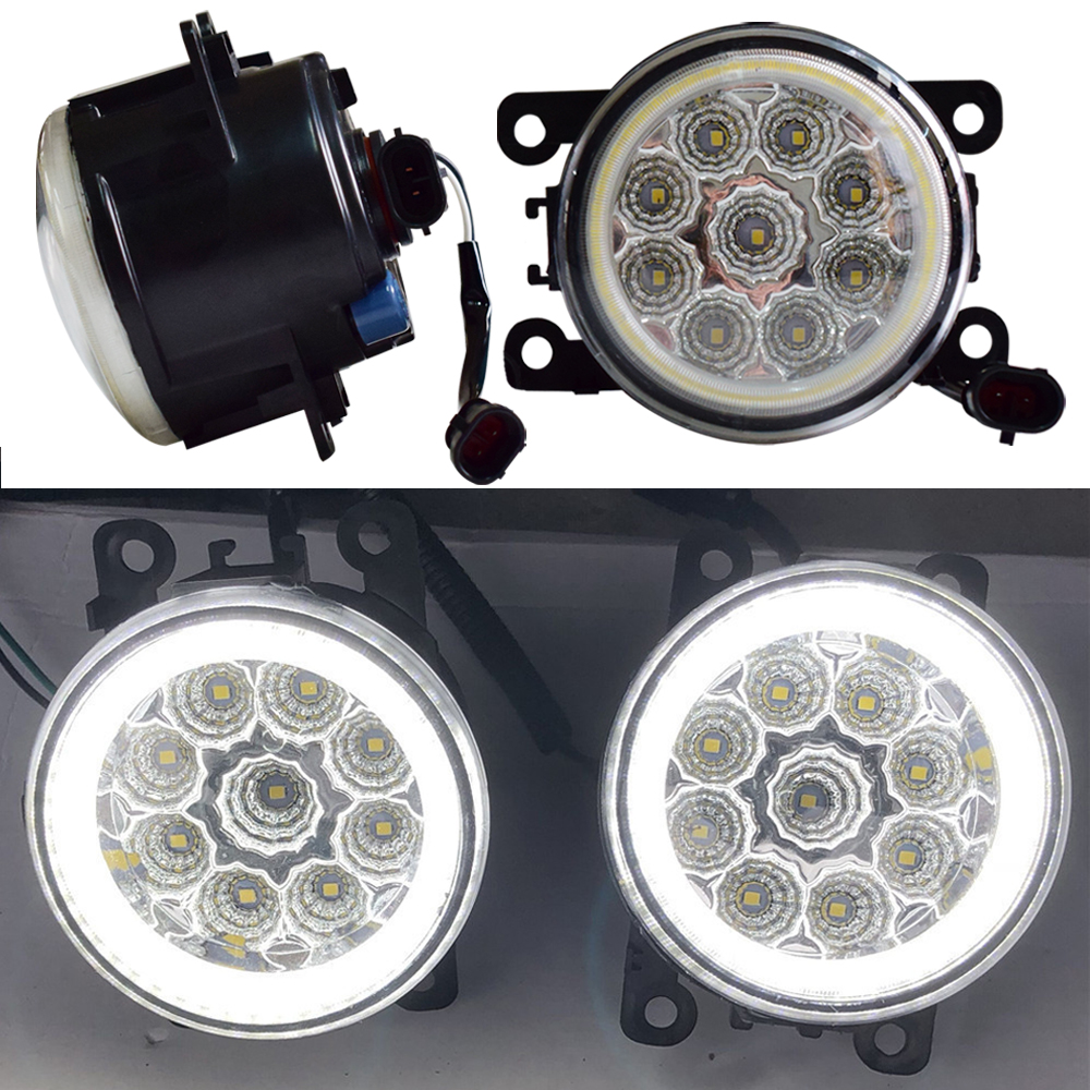 Daytime Running Light Angel Eyes LED Bulb H11 Socket For <font><b>Peugeot</b></font> <font><b>407</b></font> <font><b>Coupe</b></font> 6C_ 2005-2011 Halogen Fog Lamp Headlight image