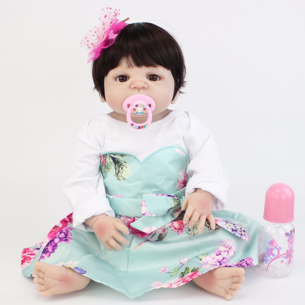 55cm Full Silicone Body Reborn Baby Doll Toy Like Real Newborn Princess Babies Alive Bebe Doll Bathe Toy Girls Bonecas Gift npk 55cm silicone reborn baby boy doll toy like real full silicone body newborn babies doll bebe reborn bonecas girls gift