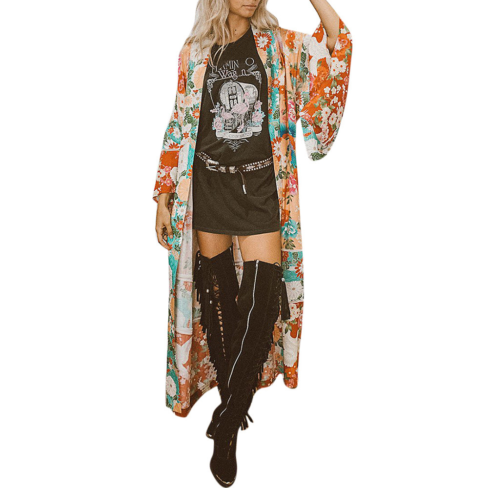 ALI shop ...  ... 32996161798 ... 4 ... High quality Summer tops Women Chiffon Shawl Kimono Cardigan Top Belt Cover Up Blouse Beachwear Sheer Tops d90403 ...