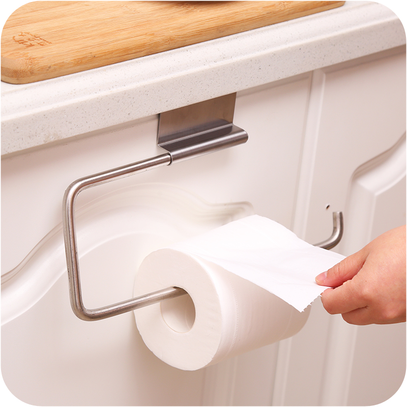 New Arrival Multifunctional Stainless Steel Paper Towel Roll Holder Towel Rack Bathroom Kitchen