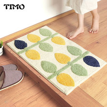 ФОТО timo door mats outdoor home anti-slip plant leaves bathroom bedroom doormat floor short-staple mat carpet kitchen mat indoor
