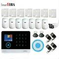 SmartYIBA LCD WIFI GSM сигнализация комплект с наружной ip-камерой для умного дома приложение управление беспроводной домашний охранный дом сигнализ...